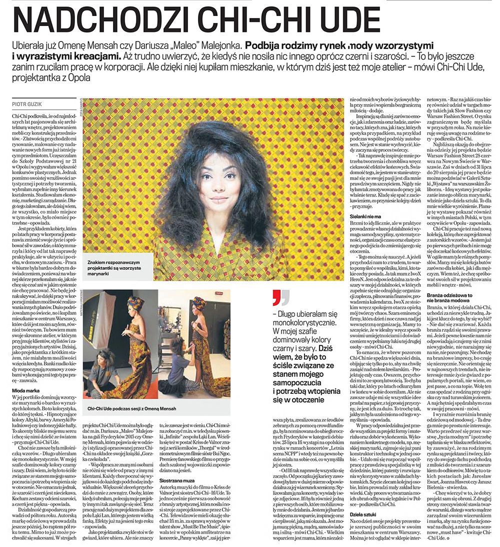 Wywiad Gazeta Wyborcza Chi-Chi Ude